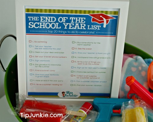 End of School Year List {printable}