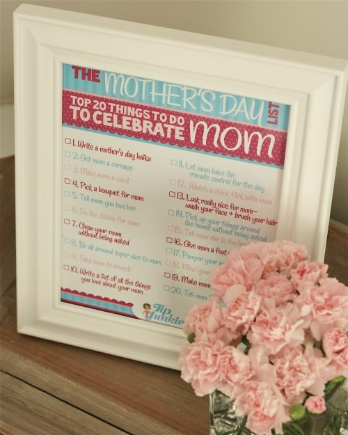 20 Things To Do for Mothers Day