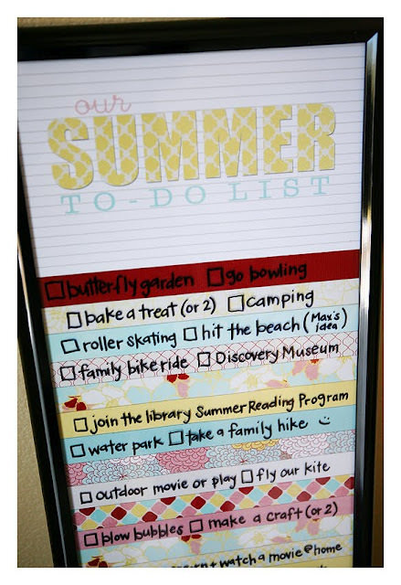 Summer To Do Activity List {printable}