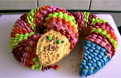 Colorful Cobra birthday cake
