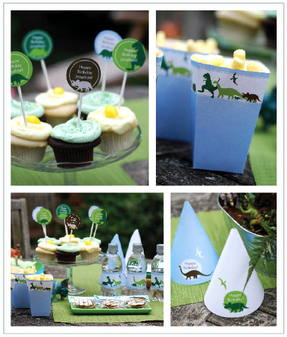 Dino Dig party printables
