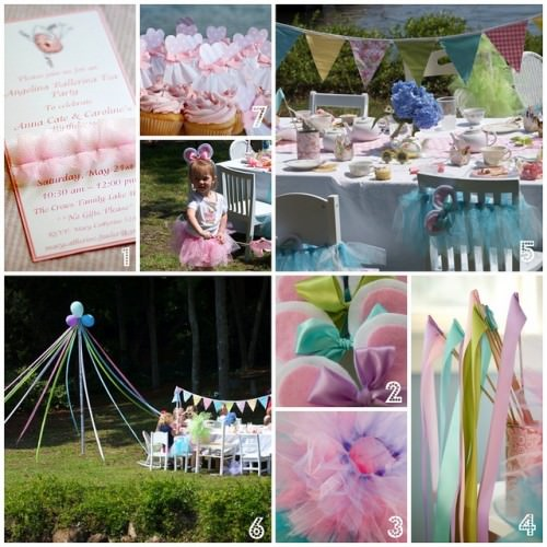 Angelina Ballerina Tea Birthday Party