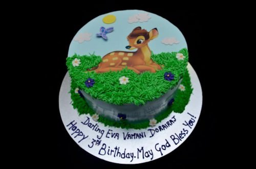 Disney Bambi Birthday Cake