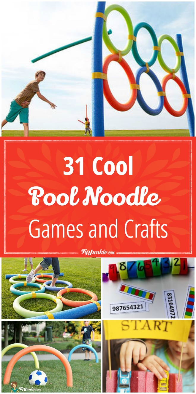 31 Cool Games and Crafts Using Pool Noodles, including games and crafts!