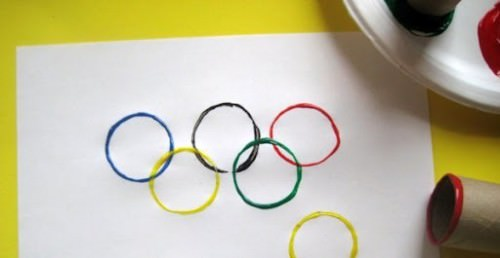 Summer Olympics Activities toilet paper rings