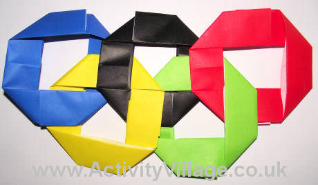 How To Make Origami Olympic Rings