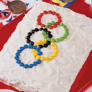 Olympic Games Menu and Champion Chocolate Cake