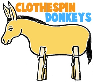 Clothespin Donkey Printable Craft