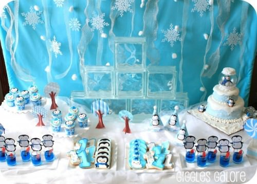 Penguins & Polar Bears Winter ONEderland Birthday Party