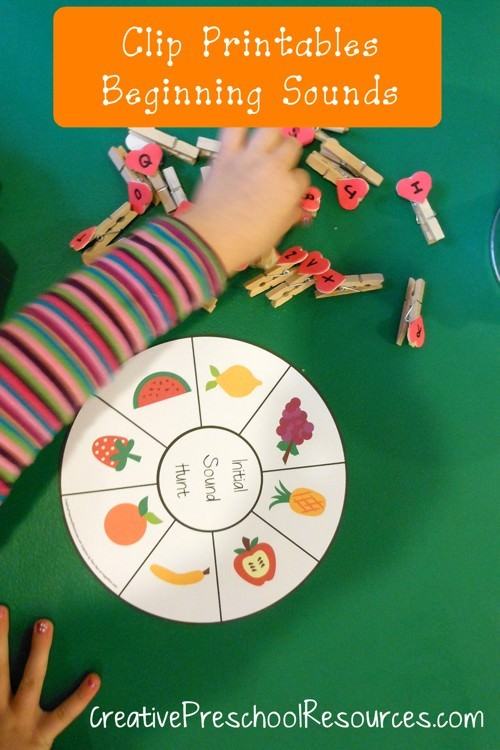 Clothespin Games and Printables for Preschoolers