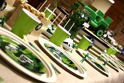 M.A.S.H. green army man birthday party