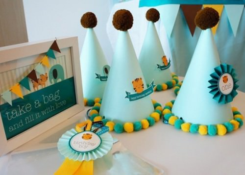 baby Blue Tiger Birthday Party