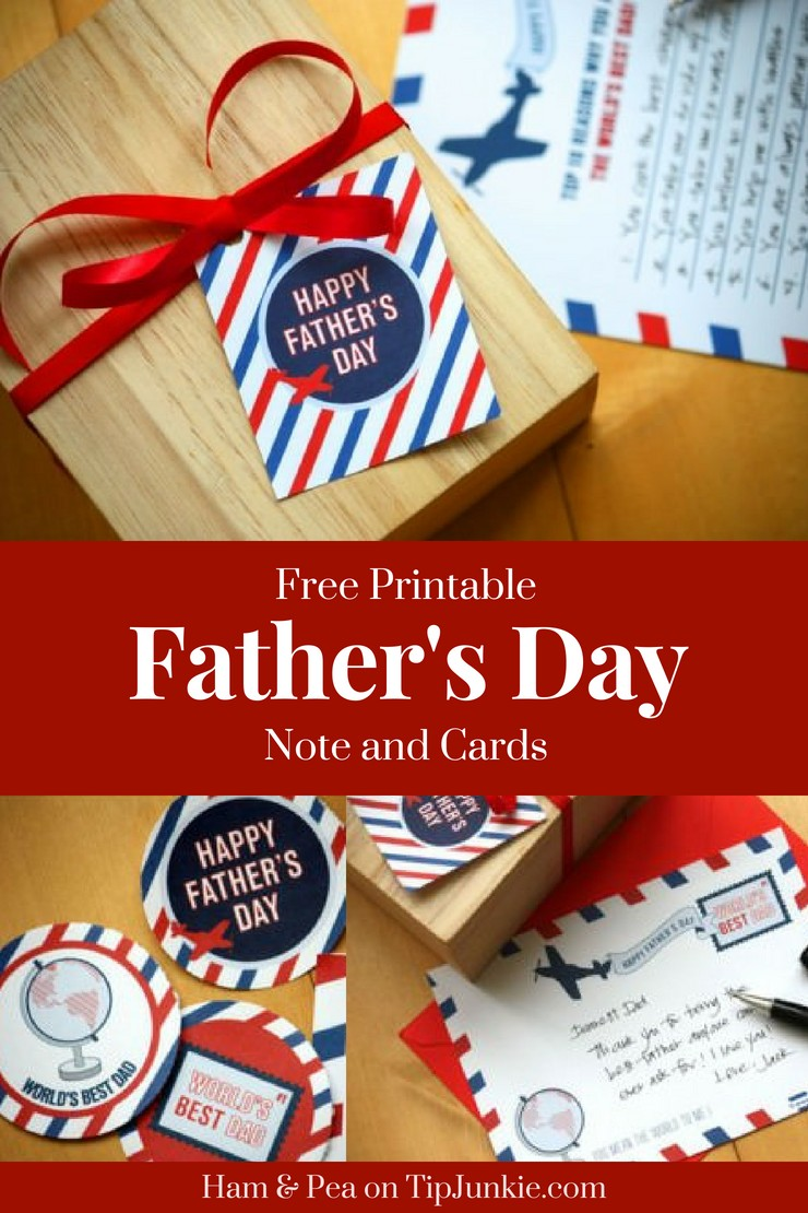 Father's Day Card and Note Free Printable Tip Junkie