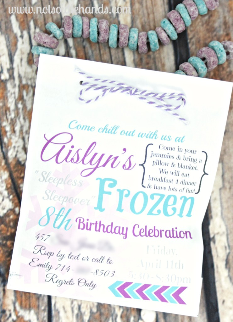 Frozen Birthday Invites