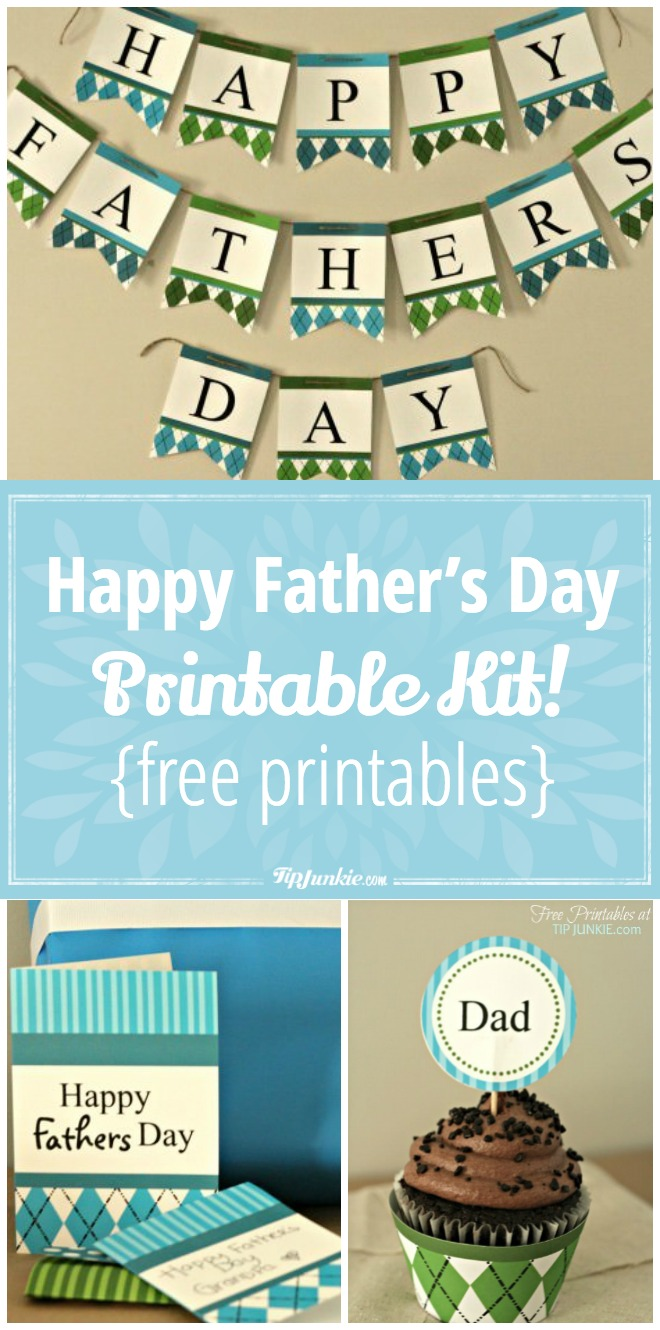Happy Father's Day Printable Decor Kit! {free printables}