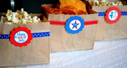 Fourth of July Barbecue Snack Bags
