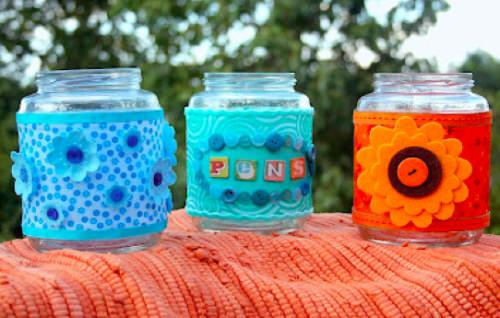 Recycled Supply Jars