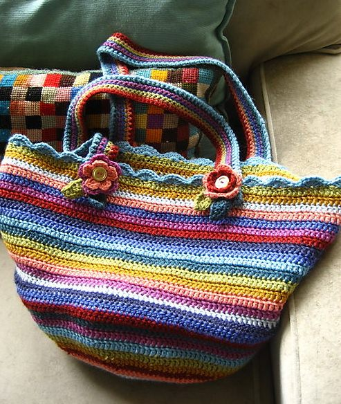 15 Free Crochet Knitting Bag Patterns Tip Junkie