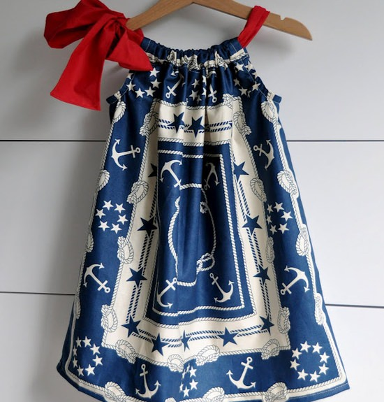 Patriotic Pillowcase Dress