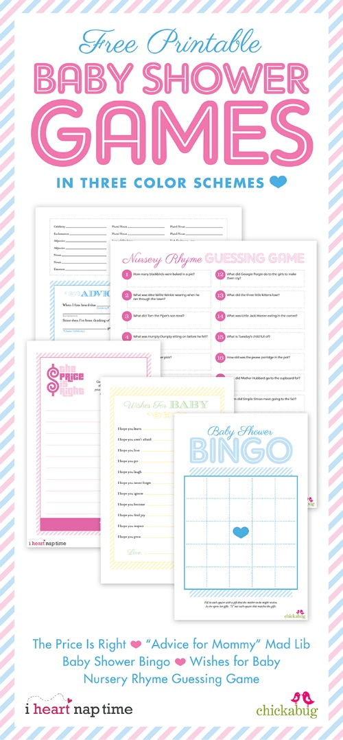 20 Printable Baby Shower Games That Are Fun To Play! | Tip Junkie