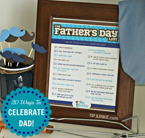 father activities printable list