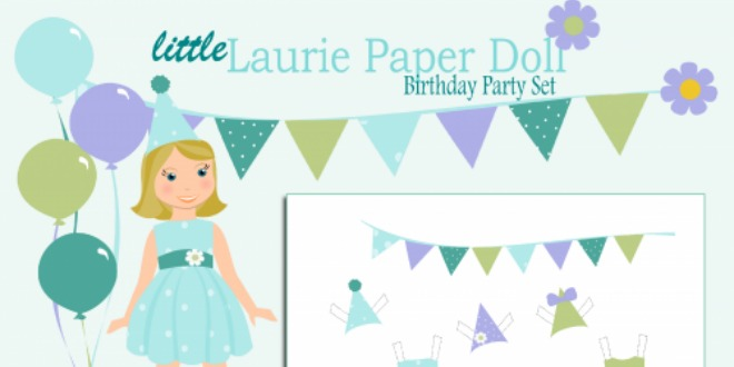 happy birthday paper doll