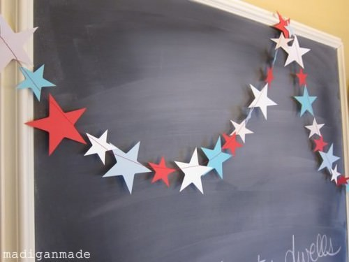 Simple Sewn Star Garland