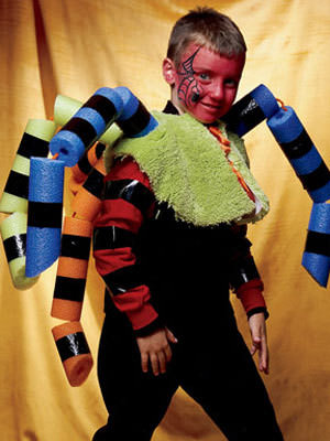 DIY Pool Noodle Spider Halloween Costume