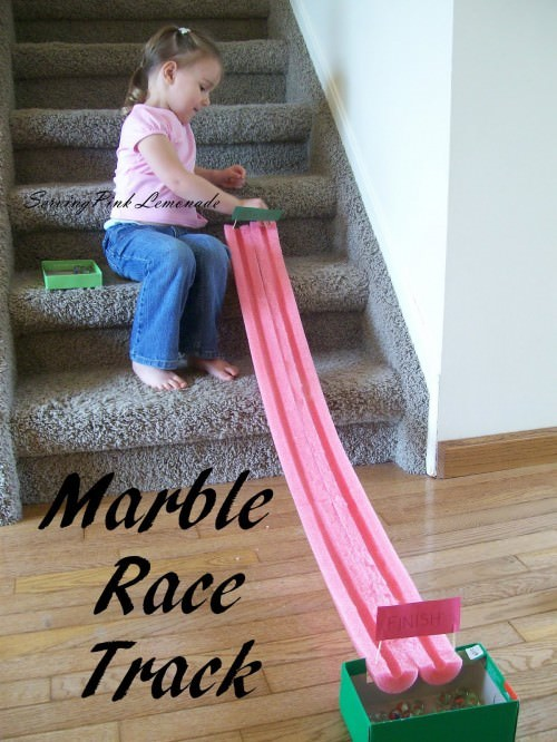 Pool Noodle Marble Racetrack