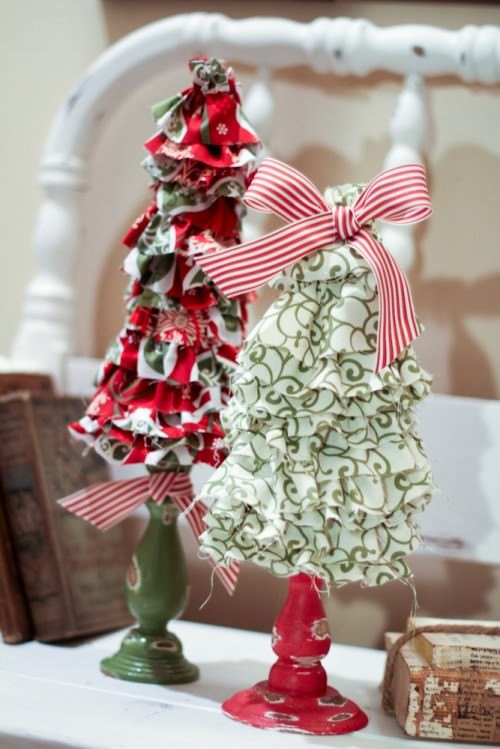 Ruffled Christmas Trees {Decorating for Christmas}