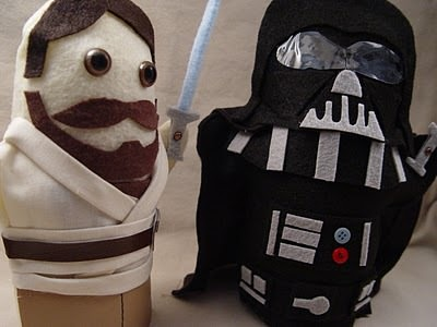 Obi Wan and Darth Vader Hand Puppets