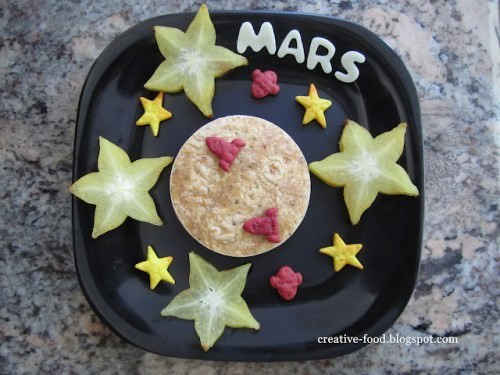 Mars Lunch Recipe Crafts with Food