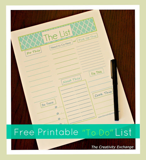 "Free Printable Modern ""To Do"" List to Organize"