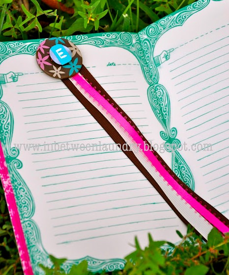 Monogram Ribbon bookmarks
