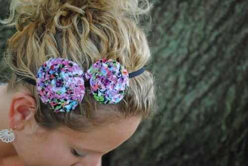 Braided Fabric Flower Headband