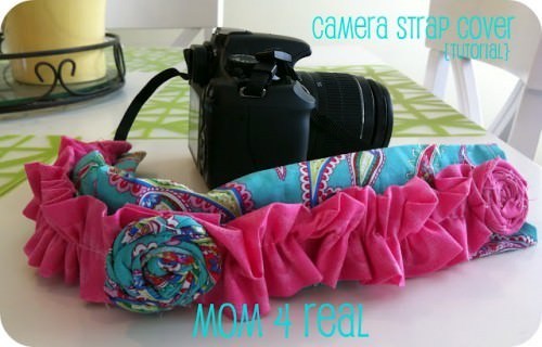 Ruffled Camera Strap Cover {How-To}