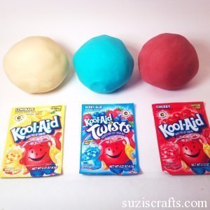 This kool aid play dough recipe is a No Cook Play dough Recipe