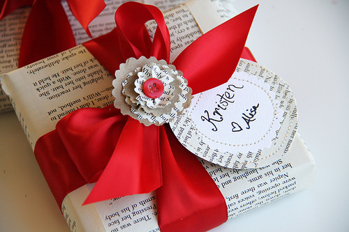 Book Page Gift Wrap