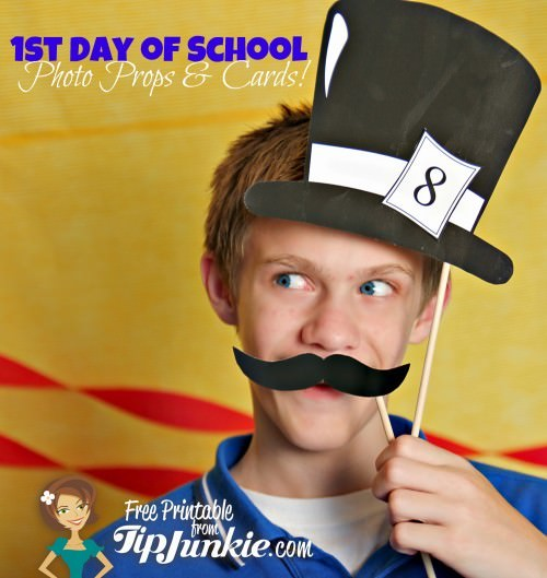 First Day of School: 6 Photo Props, Cards & Tags from Tip Junkie!  {FREEBIE}