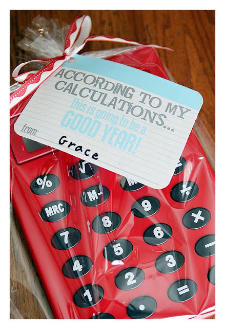Calculator Gift Tag