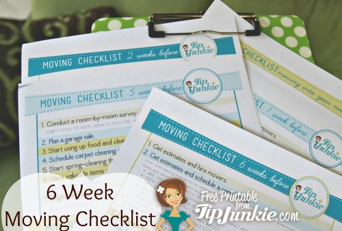checklist: 6 week moving calendar