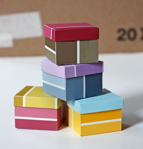 How to Make a Box from Paint Chips