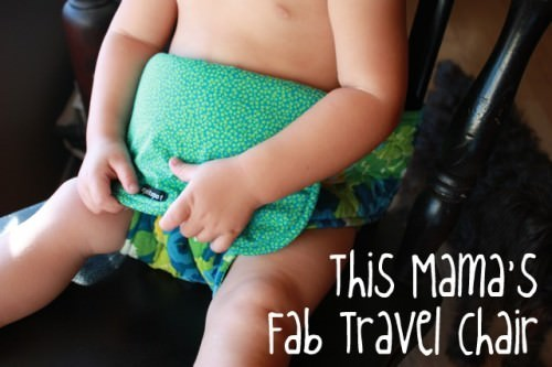 Easiest Baby Gifts to Make, check out this travel chair!