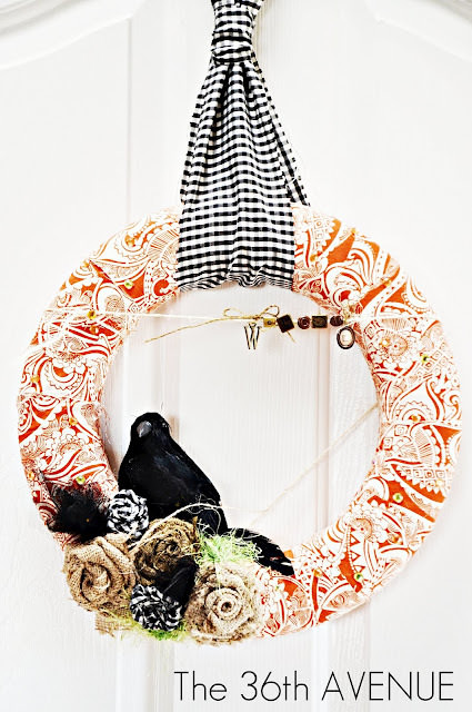 DIY Halloween Fabric Wreath