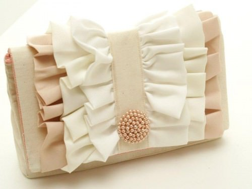 Ruffled Clutch