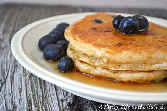 Homemade Quinoa Blueberry Pancakes