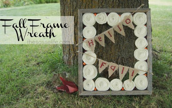 DIY Fall Frame Wreath
