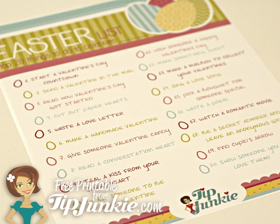 20 Fun Things To Do for Easter {free printable} by Tip Junkie