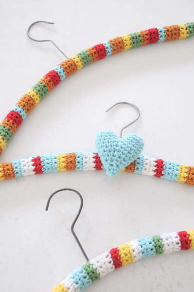 Crochet Wood Coat Hanger