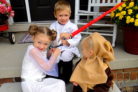 DIY Star Wars Themed Halloween Family Costume